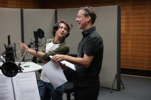Carb und Haarmann bei der Hörspielproduktion