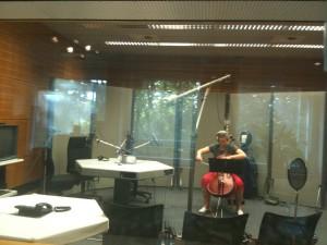 Mit Gesa Hangen im Studio